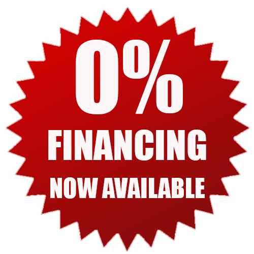 0 percent financing available